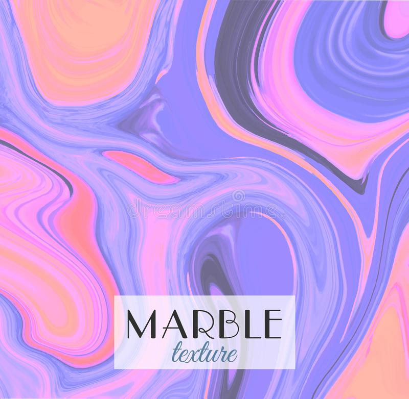 marbling Textura de mármore Fundo colorido abstrato artístico Respingo da pintura Líquido colorido Cores brilhantes ilustração royalty free