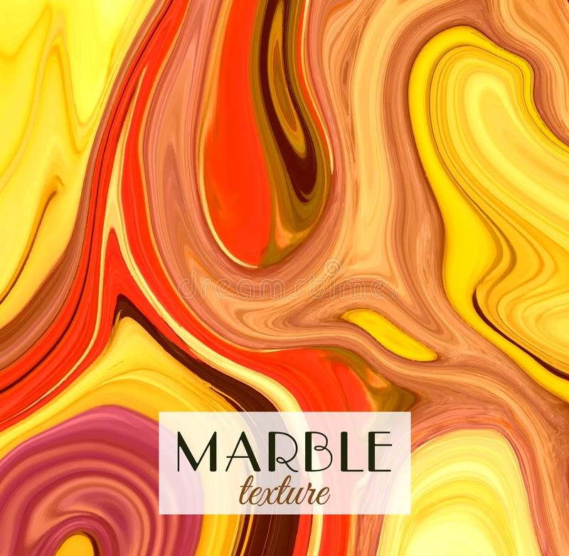 marbling Textura de mármore Fundo colorido abstrato artístico Respingo da pintura Líquido colorido Cores brilhantes ilustração do vetor