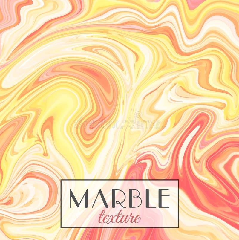 marbling Textura de mármore Fundo colorido abstrato do vetor Pinte o respingo ilustração royalty free