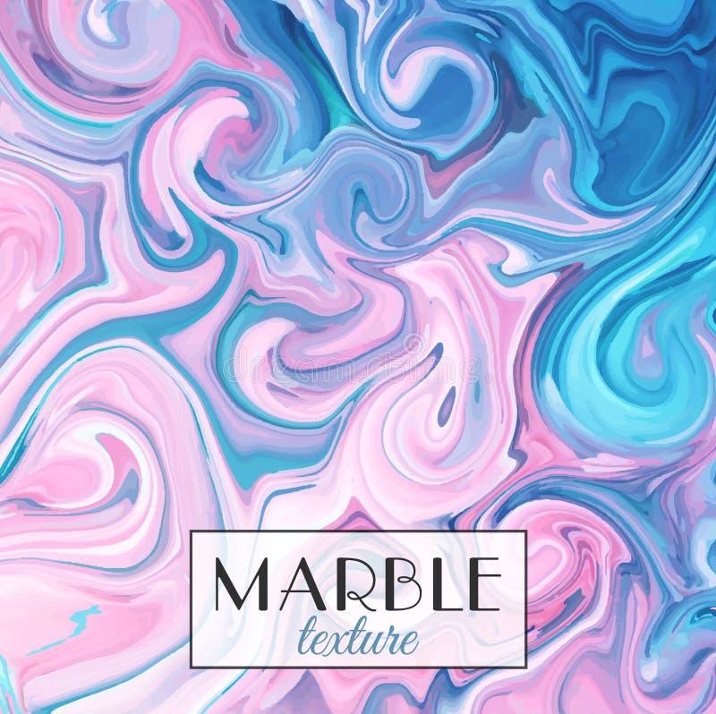 marbling Textura de mármore Fundo colorido abstrato do vetor Pinte o respingo Líquido colorido ilustração royalty free