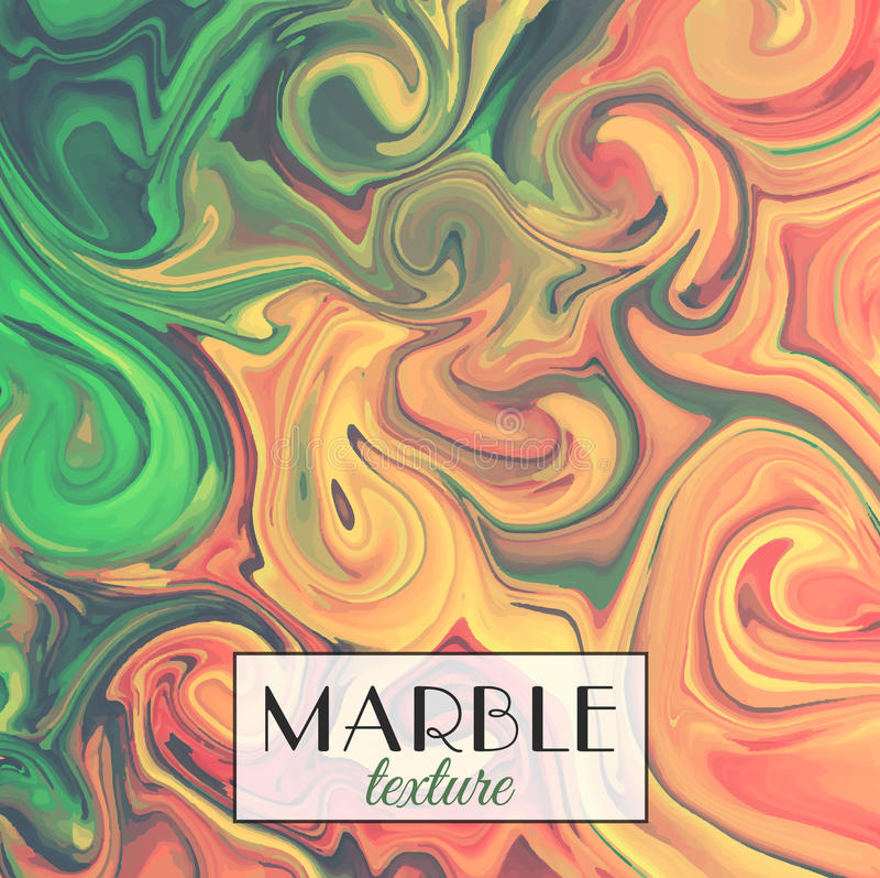 marbling Textura de mármore Fundo colorido abstrato do vetor Pinte o respingo Líquido colorido ilustração stock