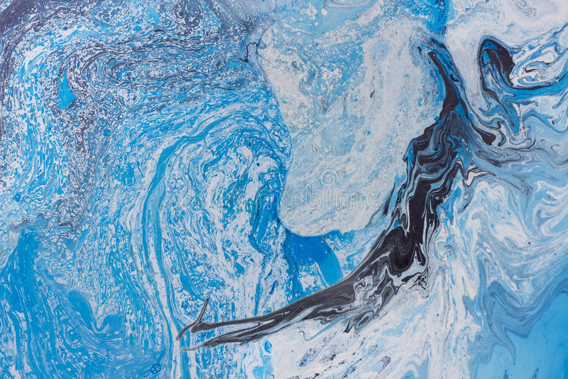 Marbling texture. Abstract background with waterfall. Aquamarine marbling texture. Abstract background with waterfall. Handmade oil painted surface. Liquid royalty free stock photos
