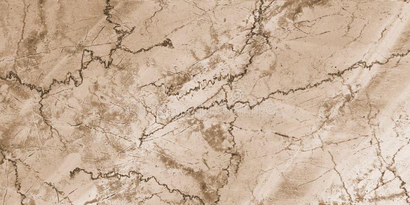 Marbre naturel, marbre naturel de modèle de pierre de texture de marbre beige de fond pour la conception extérieure intérieure de images libres de droits