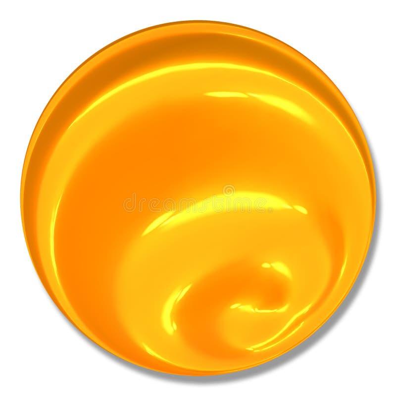 Marbre spiralé de bille de bouton illustration stock