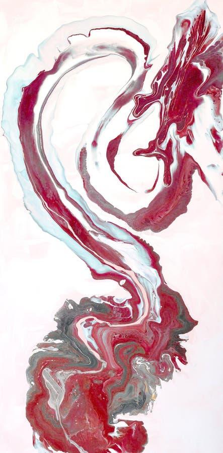 marbrer Texture de marbre Peignez l'éclaboussure Fluide coloré Fond coloré par abstrait Illustration de trame Painti abstrait col images stock