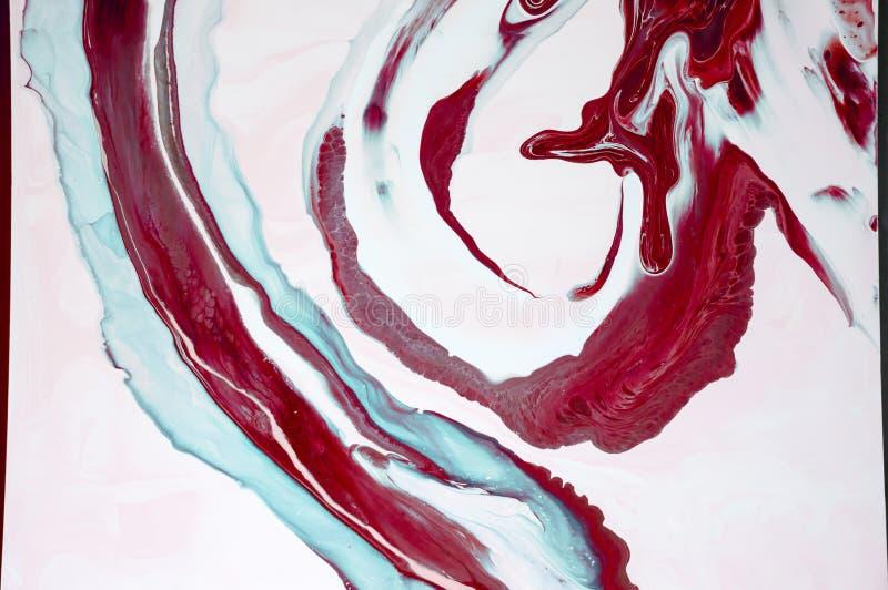 marbrer Texture de marbre Peignez l'éclaboussure Fluide coloré Fond coloré par abstrait Illustration de trame Painti abstrait col image libre de droits
