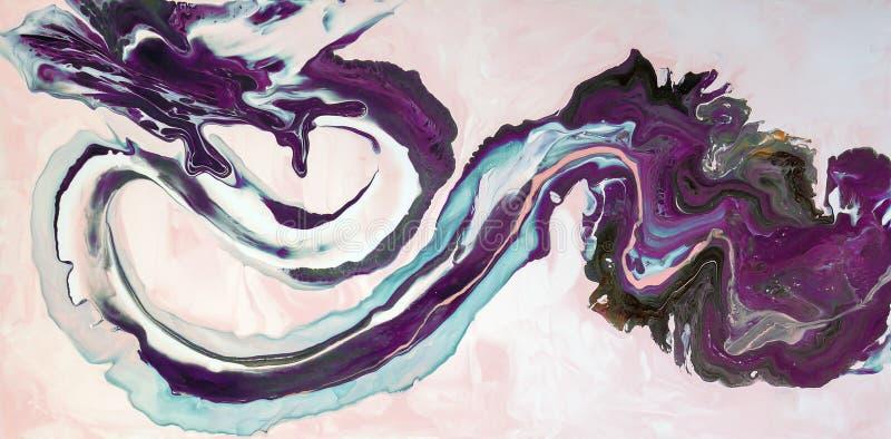 marbrer Texture de marbre Peignez l'éclaboussure Fluide coloré Fond coloré par abstrait Illustration de trame Painti abstrait col illustration stock
