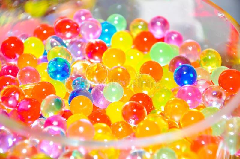 Marbres colorés en verre image libre de droits