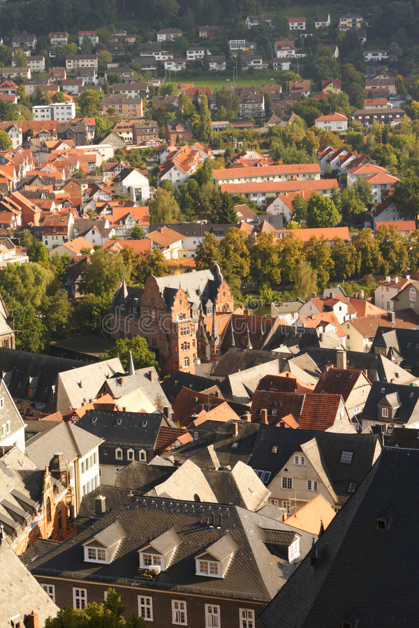 Marburg, Germany - Overview stock photography