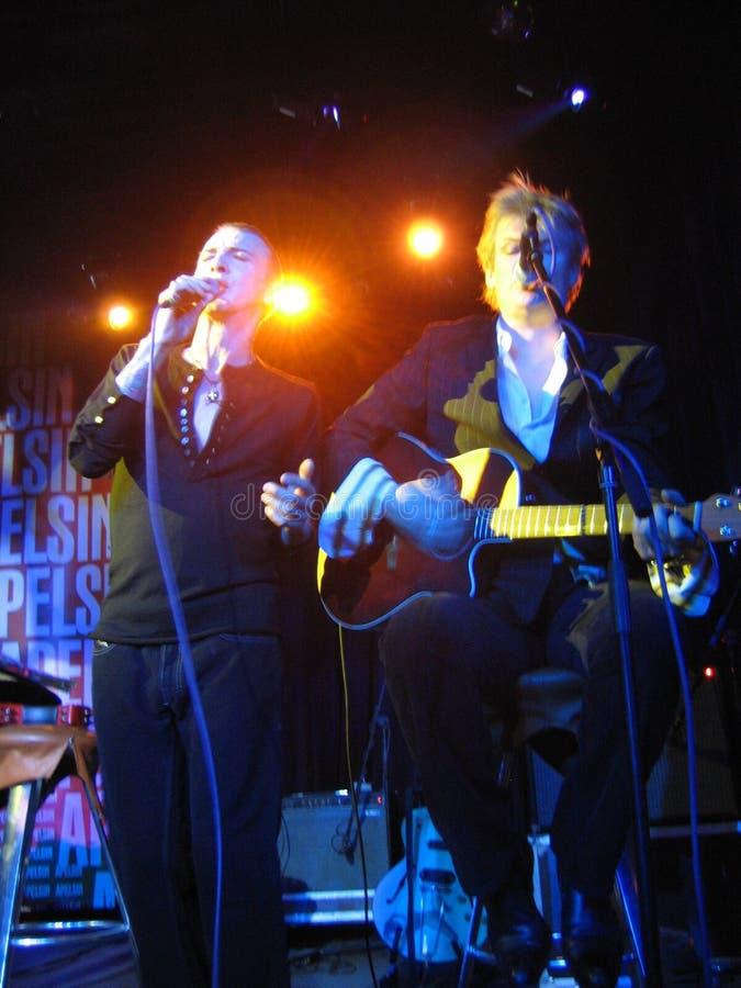 Marc Almond vive no concerto em Moscou Rússia, 2006 fotos de stock