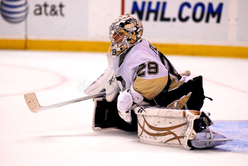 Marc-Andre Fleury Pittsburgh Penguins goalie. Pittsburgh Penguins goalie Marc-Andre Fleury #29 royalty free stock photos