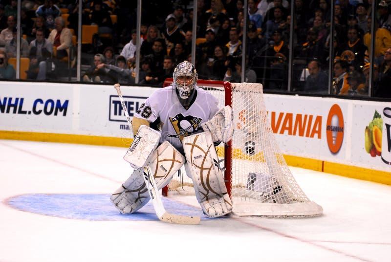 Marc-Andre Fleury Pittsburgh Penguins goalie. Pittsburgh Penguins goalie Marc-Andre Fleury #29 royalty free stock photo