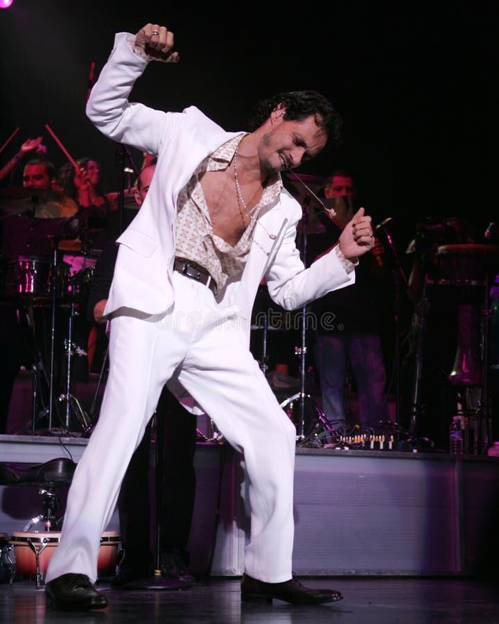Marc Anthony se realiza en concierto fotos de archivo libres de regalías
