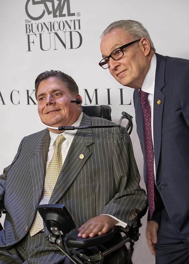 Marc Buoniconti and Dr. Barth Green royalty free stock image