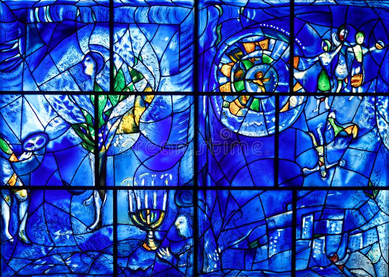 Marc Chagall Stained Glass, Chicago Institute of Art royalty free stock images