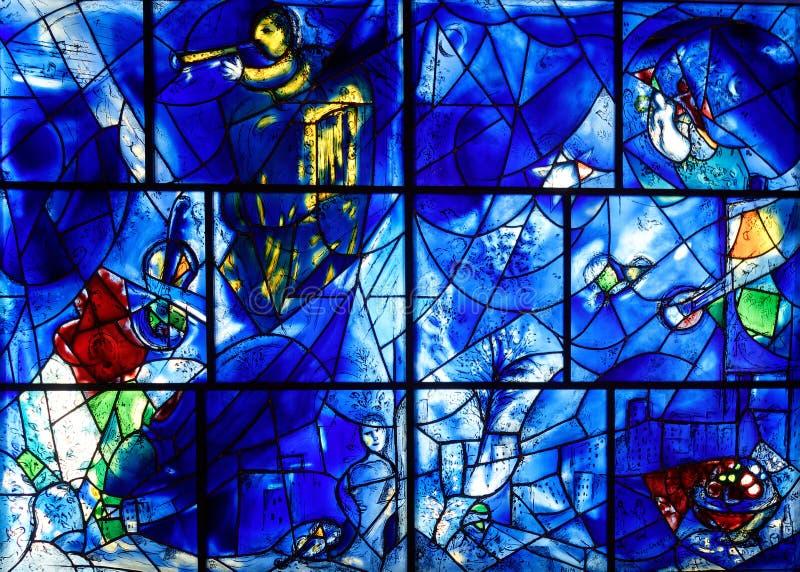 Marc Chagall Stained Glass, het Instituut van Chicago van Art. stock fotografie