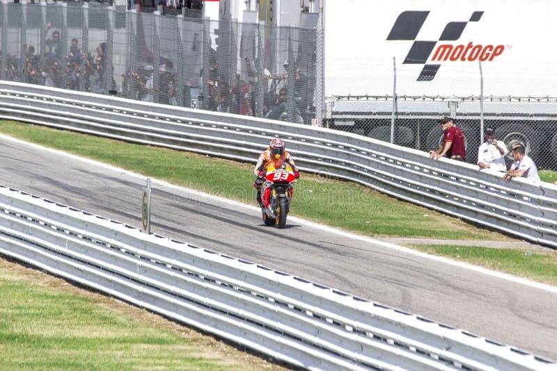 Marc Marquez de l'emballage d'équipe de Repsol Honda images stock