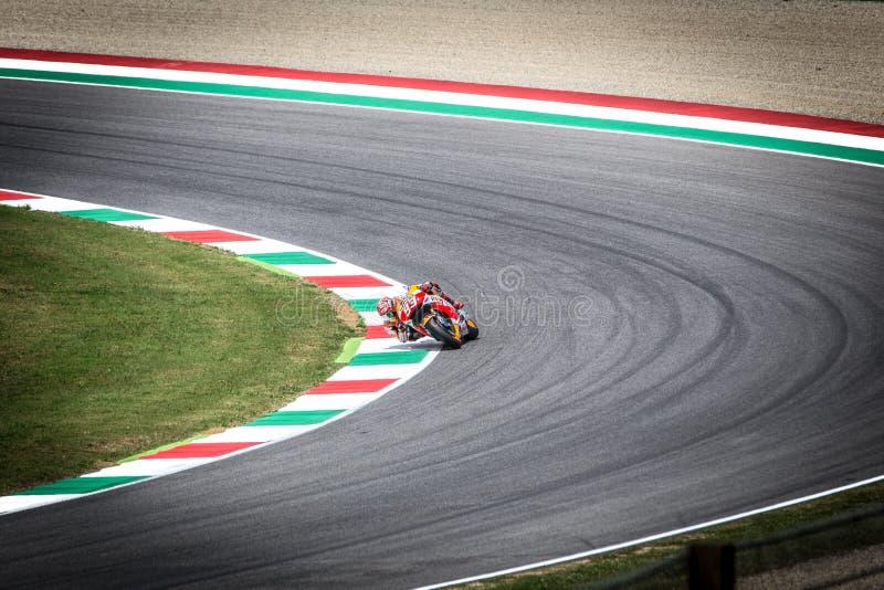 Marc Marquez en el funcionario Honda Repsol MotoGP Mugello imágenes de archivo libres de regalías