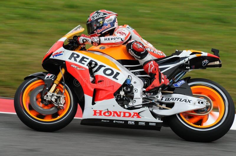 Marc Marquez HONDA Repsol MotoGP GP av den Italien Mugello strömkretsen 2013 arkivbild