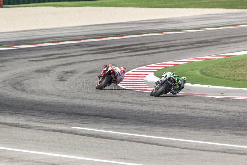 Marc Marquez of Repsol Honda team racing stock photo