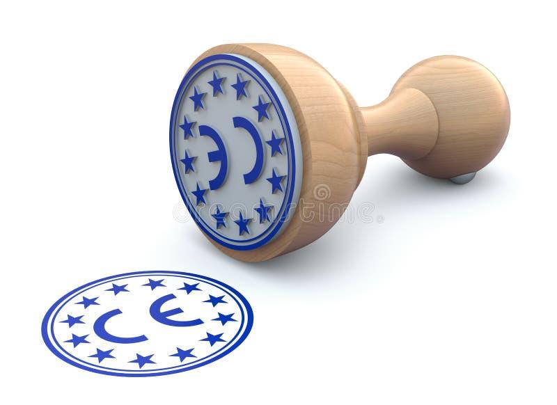 Marcação de borracha do selo-CE - ilustração 3d ilustração royalty free