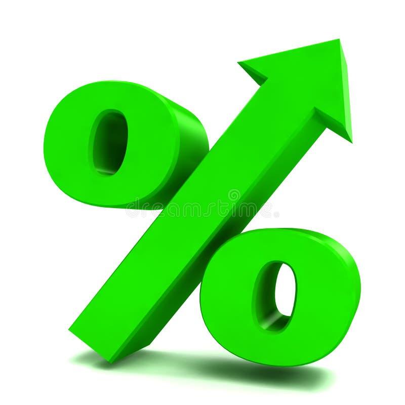 Marca abstrata dos por cento ilustração stock
