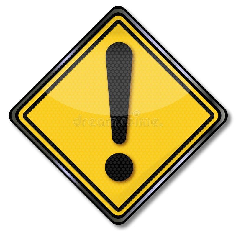 Marca amarilla de la llamada y de exclamación libre illustration