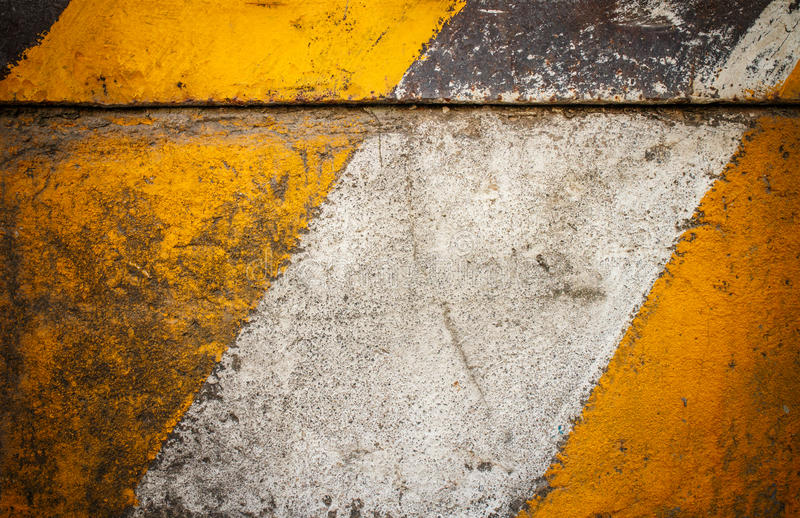 Marca amarilla y blanca foto de archivo libre de regalías