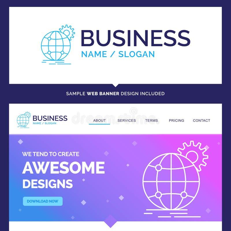 Marca bonita internacional, negócio do conceito do negócio, g ilustração royalty free
