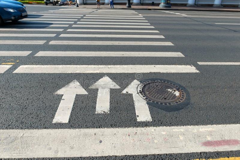 Cebra De La Marca De Camino Del Paso De Peatones Imagen de
