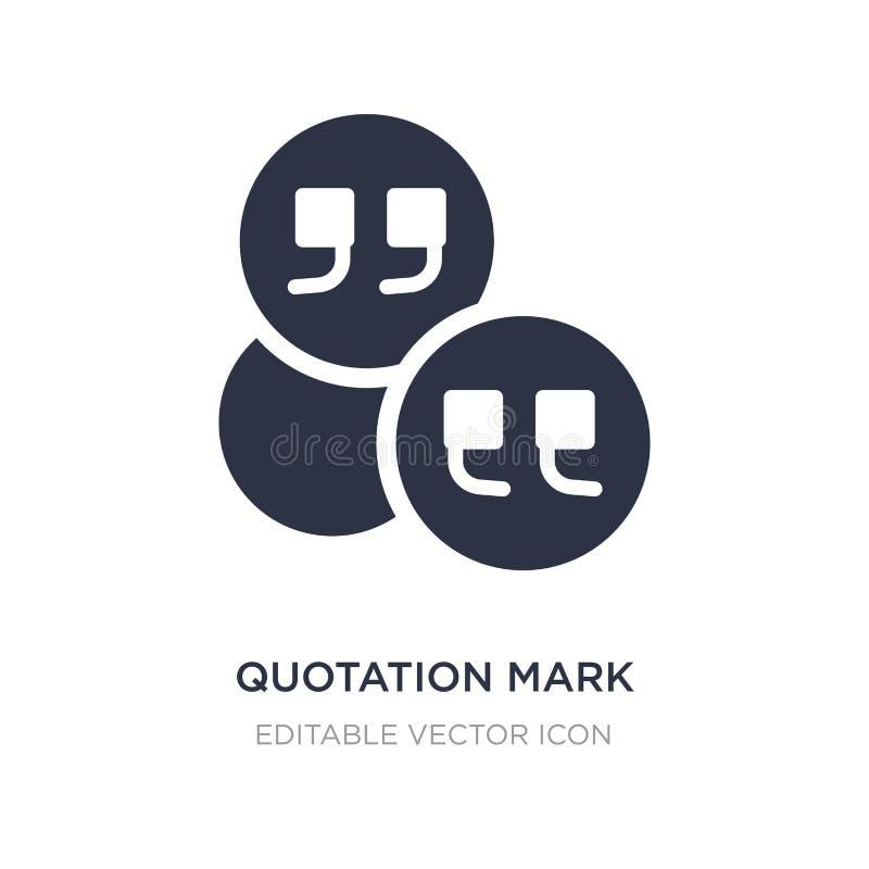 marca de cotação dentro de um ícone do círculo no fundo branco Ilustração simples do elemento do conceito geral ilustração do vetor