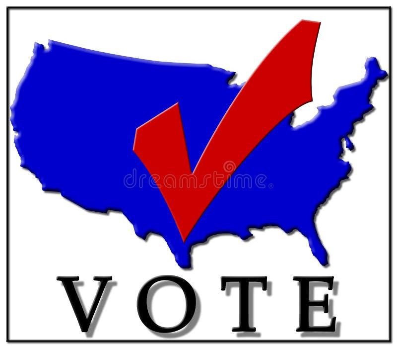 Marca de cotejo de votación libre illustration