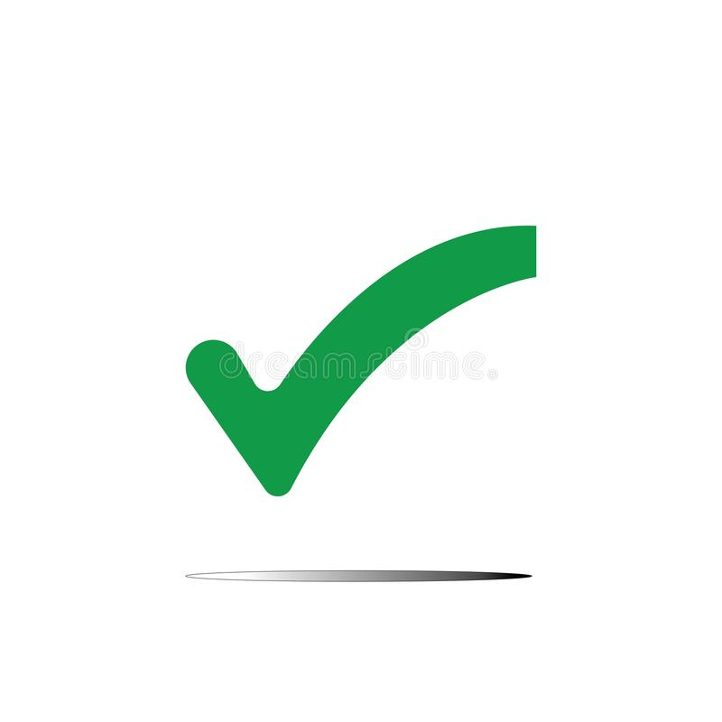 Marca de cotejo stock de ilustración