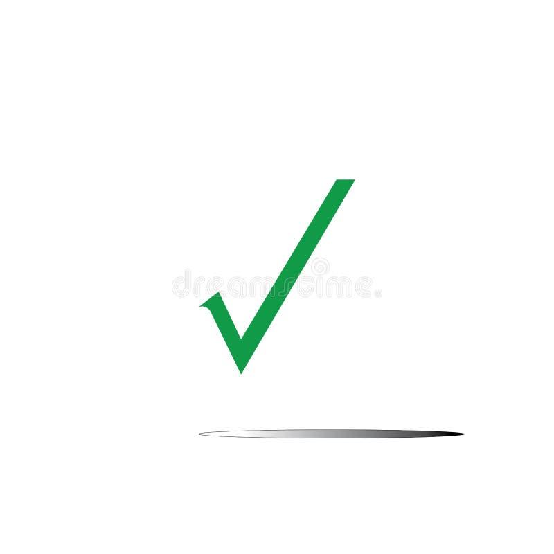 Marca de cotejo ilustración del vector