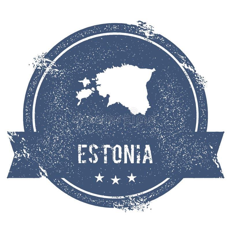 Marca de Estonia stock de ilustración