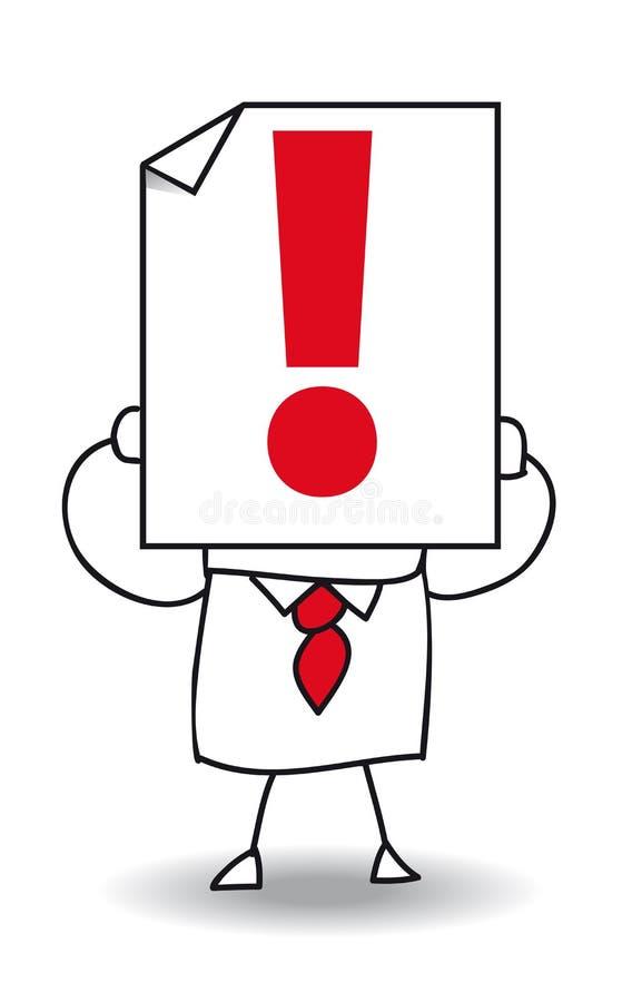Marca de exclamación ilustración del vector