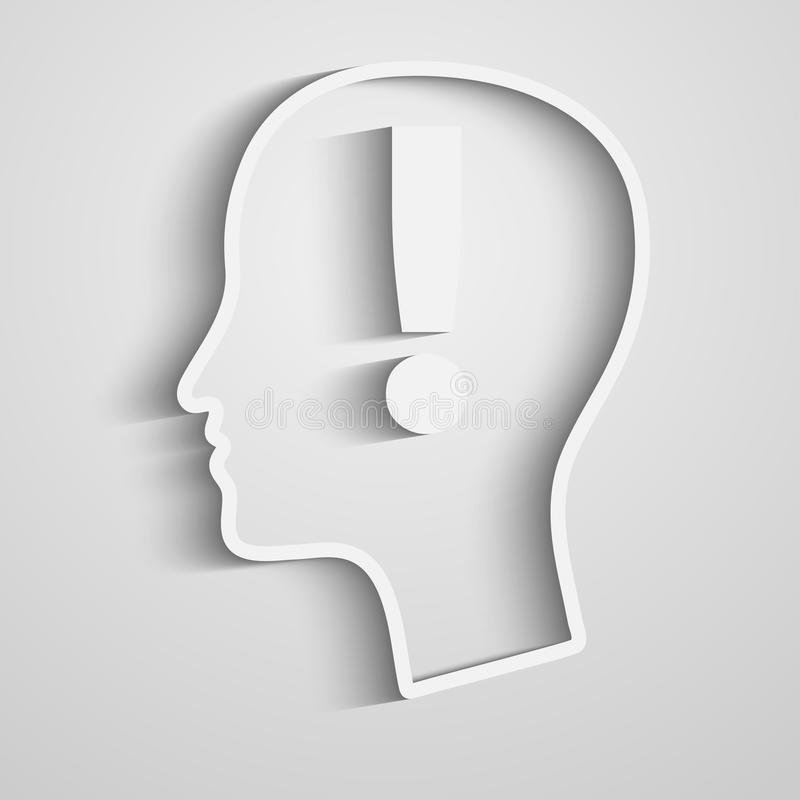 Marca de exclamación de la cabeza humana libre illustration
