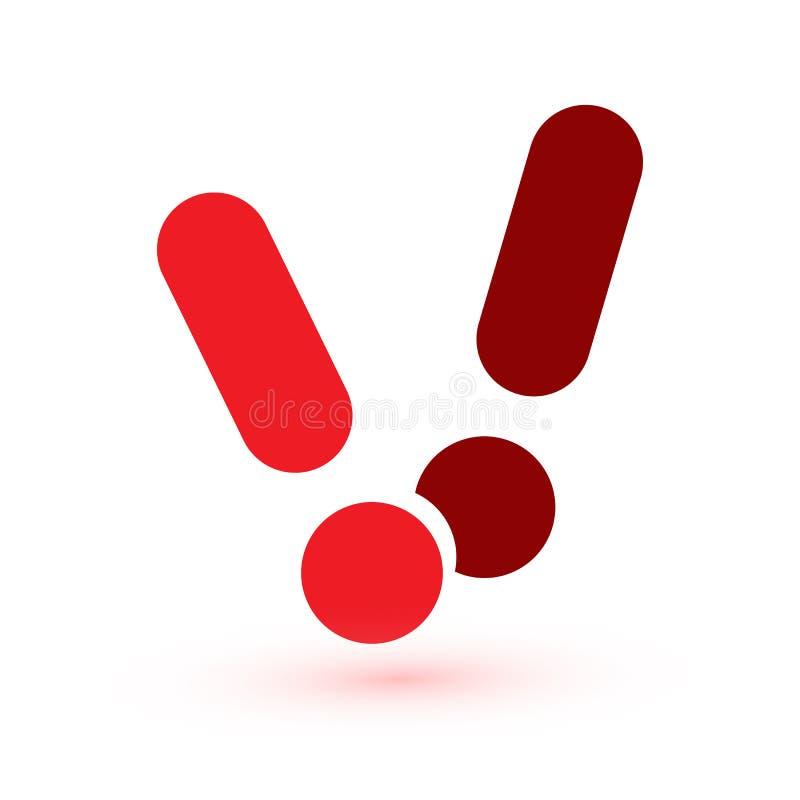 Marca de exclamaci?n Mensaje de la web de la atenci?n Muestra del peligro Icono abstracto moderno del vector Elemento infographic stock de ilustración