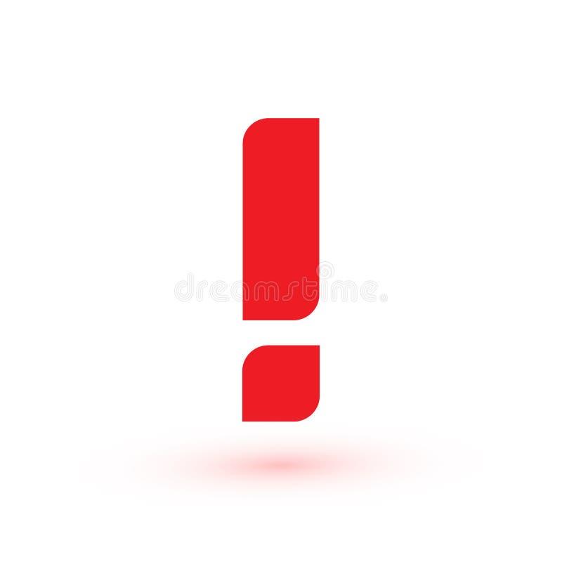 Marca de exclamaci?n Mensaje de la web de la atenci?n Muestra del peligro Icono abstracto moderno del vector Elemento infographic ilustración del vector