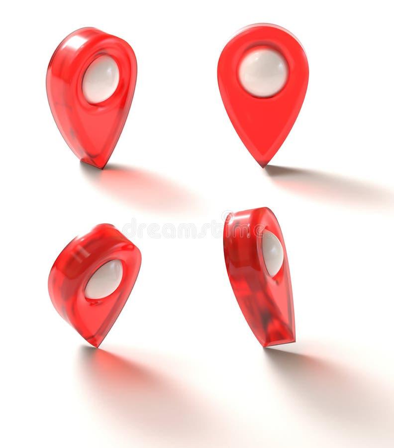 Marca de GPS del icono ilustración del vector