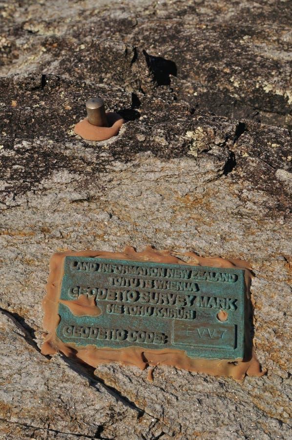 Marca de la encuesta geodésica para la investigación sísmica foto de archivo libre de regalías