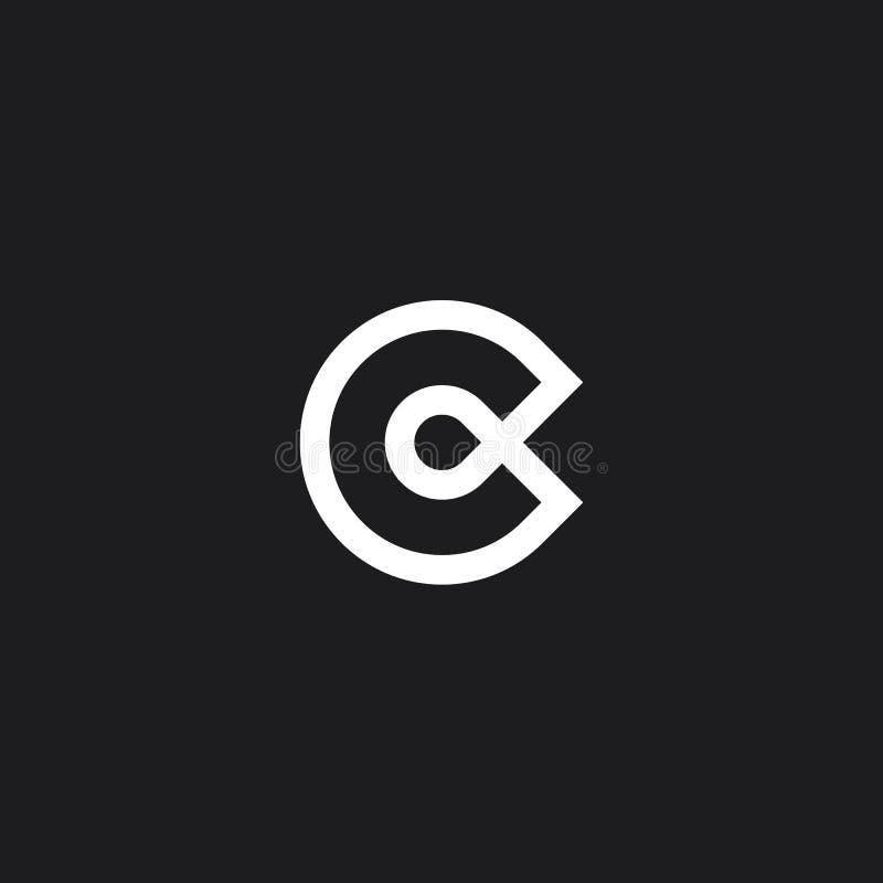 Marca de la letra de C foto de archivo