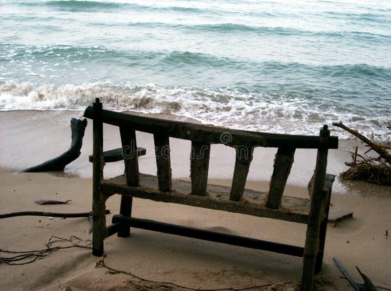 Marca De Nível Do Oceano Fotos de Stock