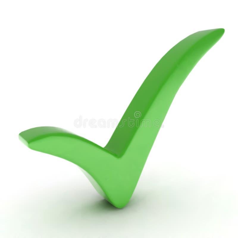 Marca de verificação verde. Vetor ilustração do vetor
