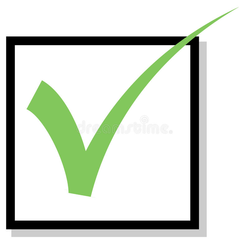 Marca de verificación stock de ilustración