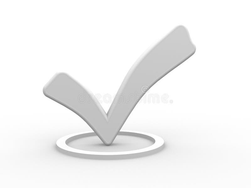Marca de verificación blanca. stock de ilustración