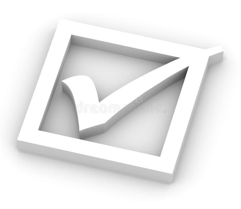 Marca de verificación blanca stock de ilustración