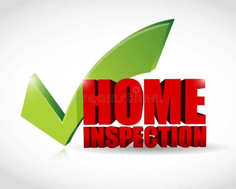 Marca de verificación casera de la aprobación de la inspección stock de ilustración