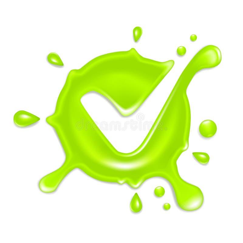 Marca de verificación verde ilustración del vector