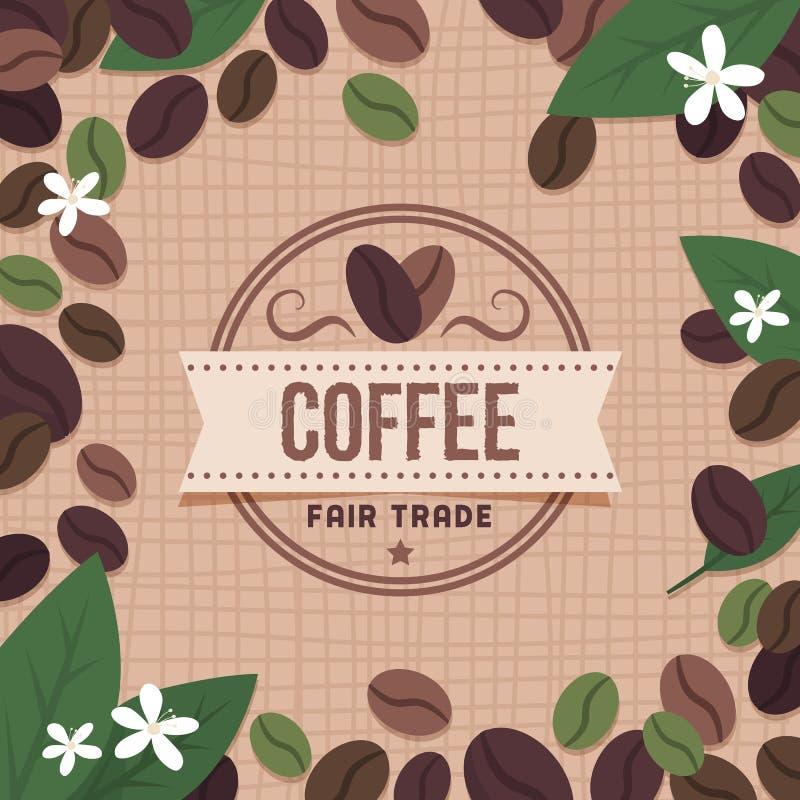 Marca del caffè del commercio equo e solidale illustrazione di stock